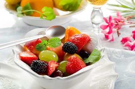 fruity salad: fruits salad Stock Photo