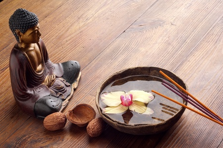 shiatsu: aromatherapy and spa concept