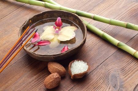 Aromatherapie und Spa-Konzept Standard-Bild