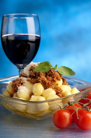 ragout: gnocchi with ragout sauce Stock Photo