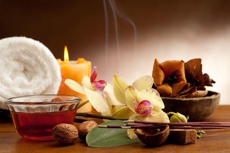 day spa: aromatherapy and spa concept