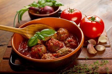 salsa de tomate: albóndigas con salsa de tomate