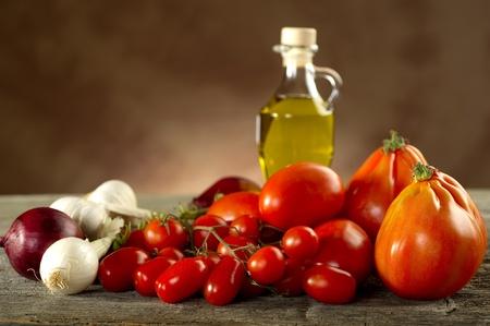 neapolitan: ingredients for italian tomato pasta sauce