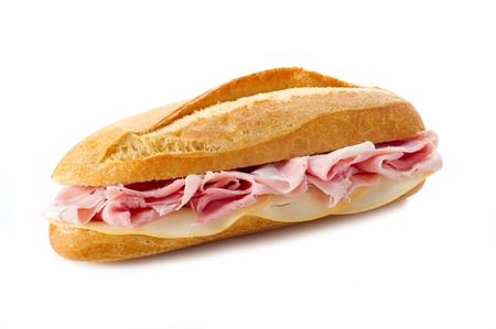 ham sandwich: sandwich with cooked ham and cheese