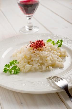 risotto with saffron pistil Stock Photo - 10392741