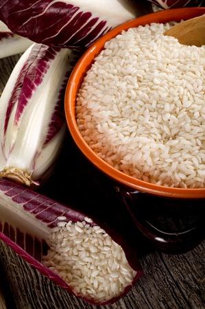 delikatesse: raw rice anch chicory Stock Photo