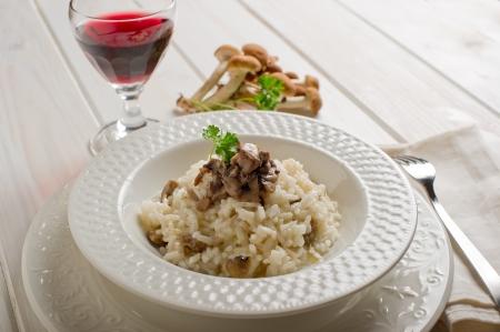 risotto: risotto with cep mushroom Stock Photo