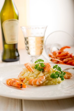 risotto with shrimp photo