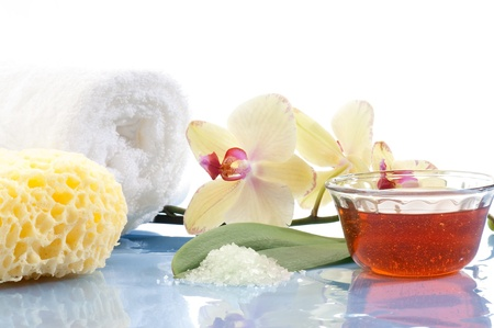 aromatherapy and spa concept photo