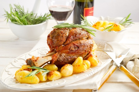 red braised: shank with potatoes