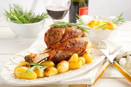 lamb shank: shank with potatoes