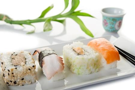 sushi on white background Stock Photo