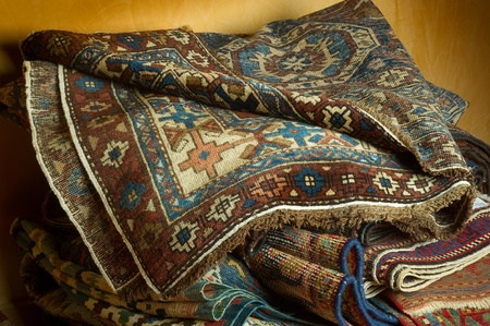 variety of ancient oriental carpets Stock Photo - 10405250