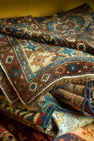 variety of ancient oriental carpets  Stock Photo - 10405272