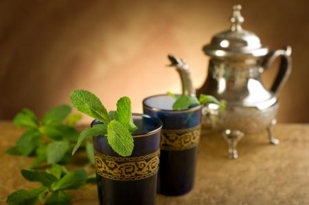 trinkets: moroccan mint tea Stock Photo