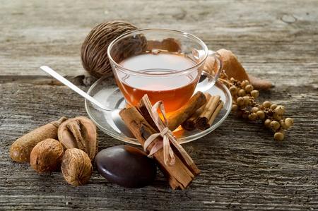 chai: spiced tea Stock Photo