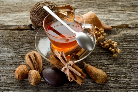 chinese herbal: spiced tea Stock Photo