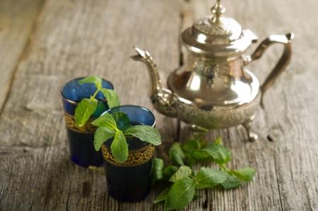 moroccan mint tea photo
