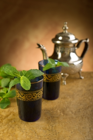 morocco: moroccan mint tea Stock Photo