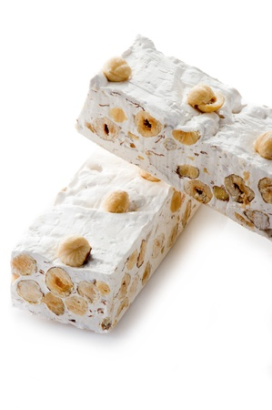 evocative: nougat with ingredients Stock Photo