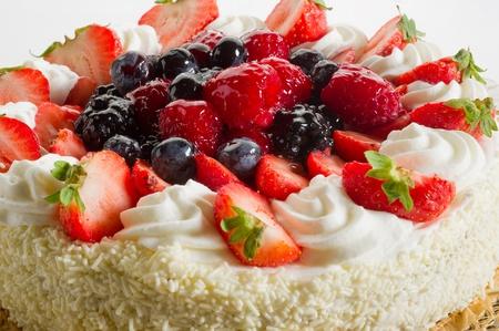 cake with soft fruits photo