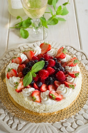 cherry pie: cake with soft fruits