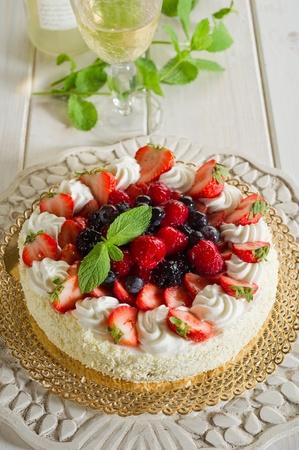 weihnachtskuchen: Kuchen mit Beerenfr�chten