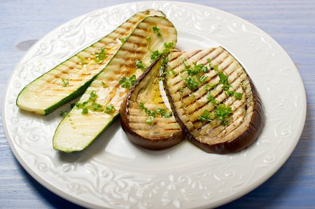 grilled eggplants and zucchinis photo