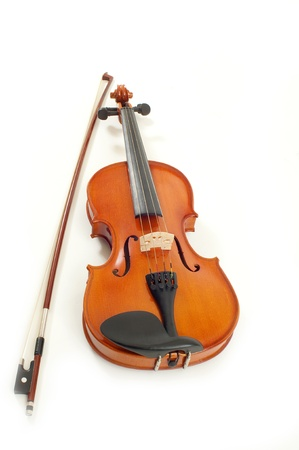 stringed: violin in white background