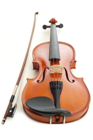 musical instrument symbol: violin in white background