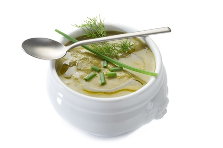 soup spoon: zucchinis soup