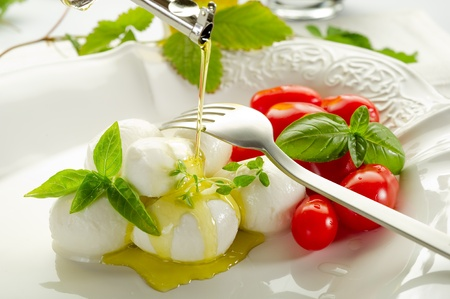 mozzarella and tomatoes