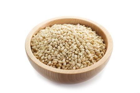 barley on white background photo