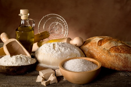 brewers: dough and ingredients for homemade bread