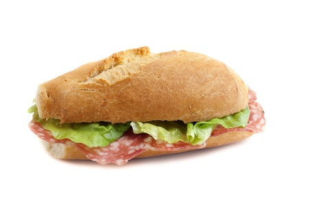 s�ndwich con salami italiano Foto de archivo - 10408539
