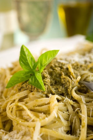 italian pesto pasta photo