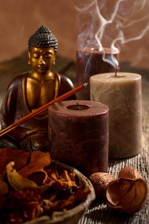 budda: aromatherapy and spa concept