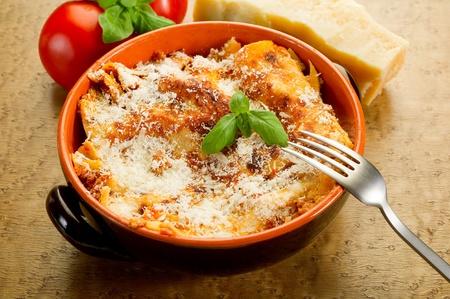 italian lasagne  with ragout  photo