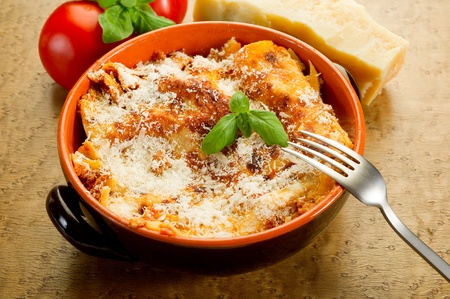 baked meat: italian lasagne  with ragout