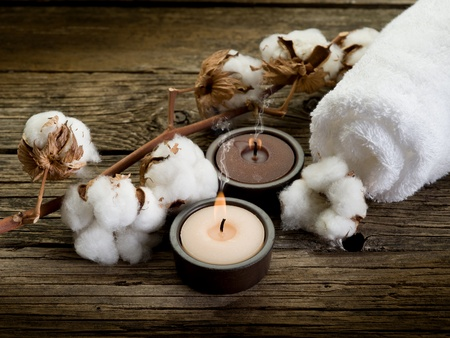 organic cotton: cotton towel- spa concept