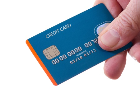 credit card purchase: hand with credit card money and businnes concept