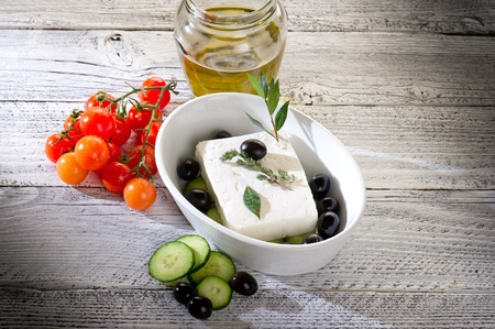 feta: feta  traditional greek cheese