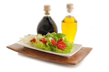 food dressing: italian mixed salad Stock Photo