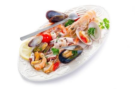 sea salad on dish photo