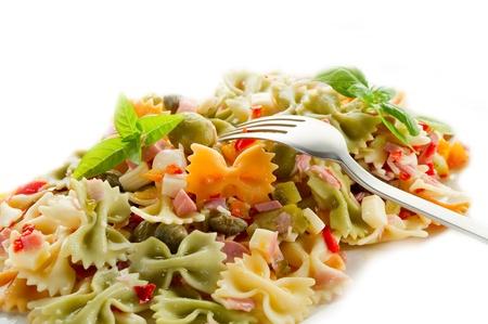 pasta salad: cold pasta salad Stock Photo