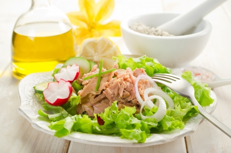 radish: tuna salad