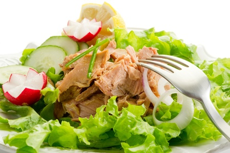 potato tuna: tuna salad