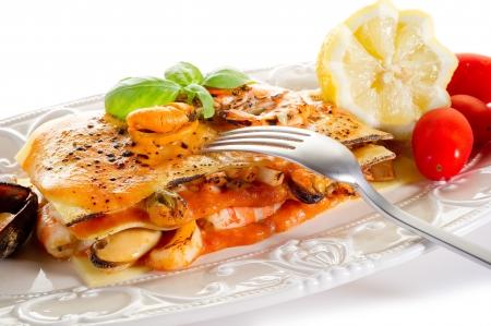 fish lasagne photo
