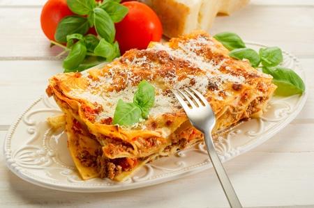 lasagna: lasa�a italiana con ragout