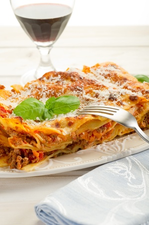 minced beef: italian lasagne  with ragout